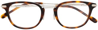 Fred Round-Frame Tortoiseshell Glasses