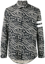 Les Benjamins abstract print shirt - men - Cotton/Polyester/Spandex/Elastane - S