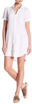 James Perse Short Sleeve Linen Shirt Dress