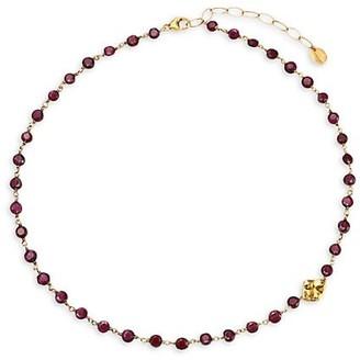 Chan Luu 18K Goldplated Sterling & Garnet Short Station Necklace