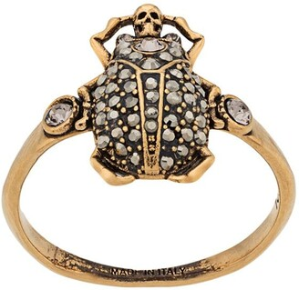 Alexander McQueen Skull Beetle Ring