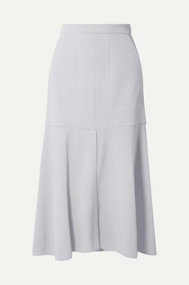Tibi Frisse Ponte Midi Skirt - Light gray