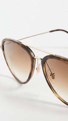 Ray-Ban 0RB429 Oversized Aviator Sunglasses