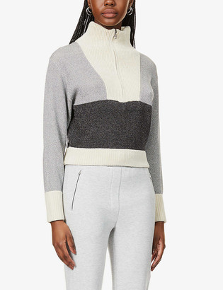 3.1 Phillip Lim Metallic knitted jumper