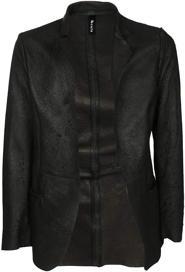 Dacute Open Front Leather Jacket