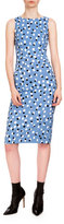 Altuzarra Shadow Polka-Dot Sheath Dress, Regatta