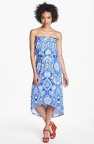 Nordstrom FELICITY & COCO 'Delanie' High/Low Blouson Dress (Petite Exclusive)