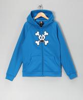 Paul Frank Blue Skull & Crossbones Fleece Zip-Up Hoodie - Boys