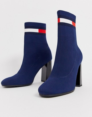 Tommy Jeans flag logo sock boot