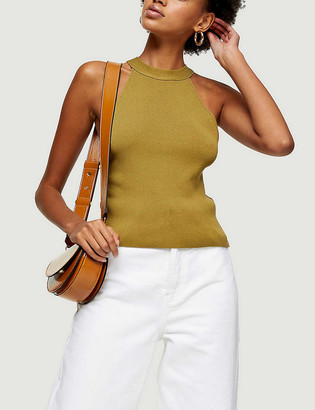 Topshop Racer sleeveless knitted top