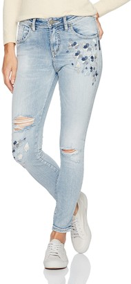 Silver Jeans Women's Izzy High-Rise Ankle Skinny Jeans with Embroidery