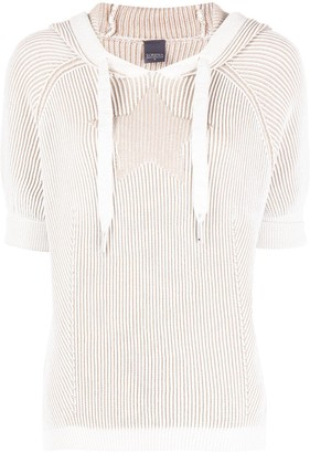 Lorena Antoniazzi Ribbed Knit Hooded Jumper