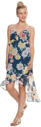 As U Wish Juniors' Chiffon High-Low Maxi Dress