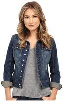 Blank NYC Distressed Denim Jacket in Toe Jam
