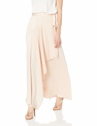 BCBGMAXAZRIA Women's Asymmetrical Satin Maxi Wrap Skirt