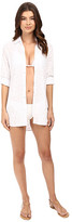 Tommy Bahama Cut Outs Boyfriend Shirt Cover-Up