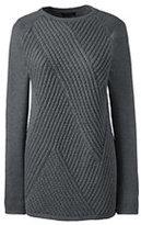 Classic Women's Petite Ribbed Tunic Sweater-Merlot