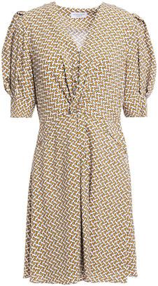 Hofmann Copenhagen Marisa Twist-front Printed Woven Mini Dress