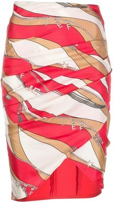 Elisabetta Franchi Asymmetrical Wrap Skirt
