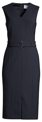 HUGO BOSS Dadorina Belted Ponte Stretch Dress