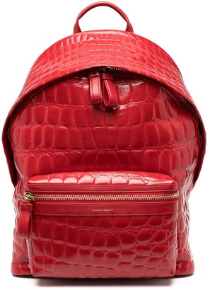 Giuliano Galiano Falcon crocodile-effect backpack