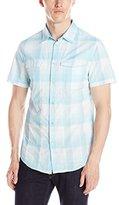 Calvin Klein Jeans Men's Ombre Neon Plaid Shirt