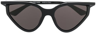 Balenciaga Eyewear Logo-Print Cat Eye Sunglasses