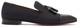 Christian Louboutin Dandelion Tassel Embellished Leather Loafers - Mens - Black Navy