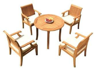 """3.1 Phillip Lim Rosecliff Heights Jerrold 5 Piece Teak Dining Set Rosecliff Heights Table Size H x 36"""" L x 36"""" W"""