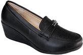 Black Wedge Loafer