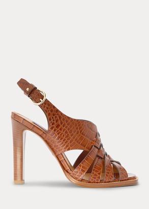 Ralph Lauren Tamara Woven Calfskin Sandal