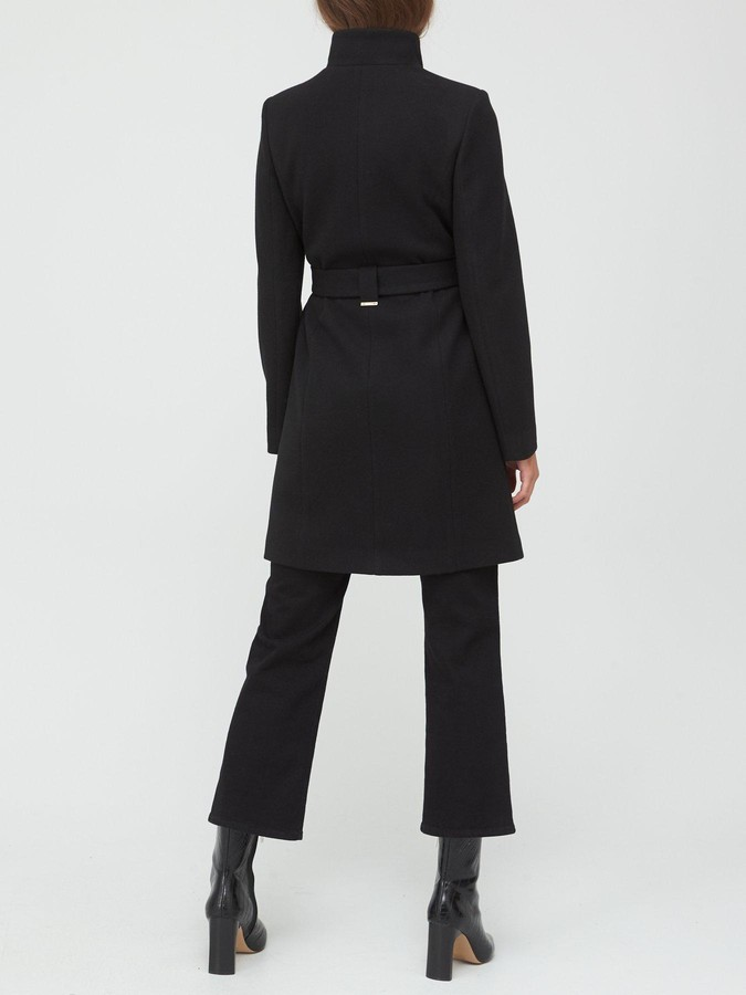 Thumbnail for your product : Very Funnel Neck Coat - Black