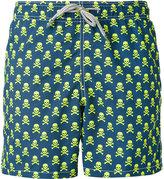 MC2 Saint Barth skull and crossbones swim shorts - men - Polyamide/Polyester/Spandex/Elastane - L