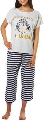 Harry Potter Knit S/S Top with Woven 3/4 Pant PJ Set