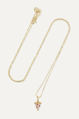 Sydney Evan 14-karat Gold, Diamond And Ruby Necklace