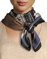 Lafayette 148 New York Piazetta Patchwork Silk Scarf