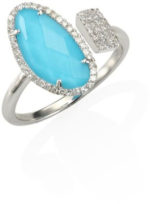 Meira T Diamond & Turquoise Doublet Ring