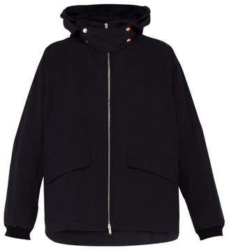Jil Sander Salina Double Hooded Cotton Twill Jacket - Mens - Dark Blue