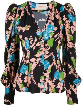 La DoubleJ Smokin'hot Winter Rose-print shirt