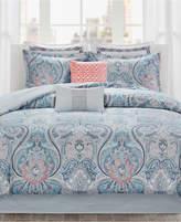 Echo Avalon Cotton Reversible 4-Pc. Full Comforter Set