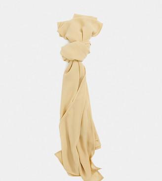 Verona chiffon maxi head scarf in camel