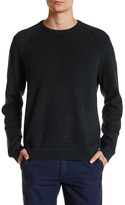 Ted Baker Rib Panelled Long Sleeve Crewneck Sweater