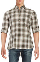 John Varvatos Plaid Sportshirt