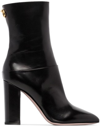 Valentino Ringstud 100mm ankle boots
