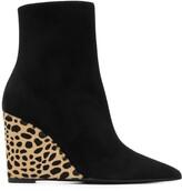 Giuseppe Zanotti Kristen leopard heel ankle boots