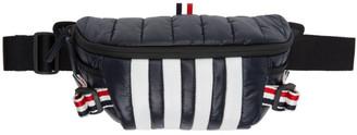Thom Browne Navy Quilted RWB Webbing Bum Bag