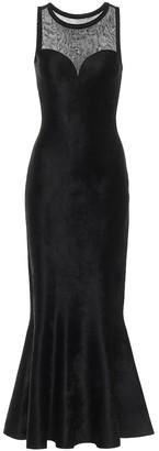 Alaia Stretch-velvet gown