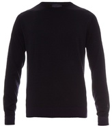 Lanvin Tri-colour Cotton And Wool-blend Sweater