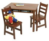 Lipper 534C Child's Rectangular Table and 2-Chair Set