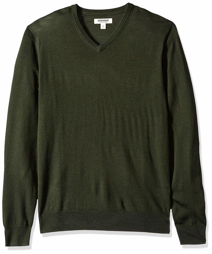 Goodthreads Mens Merino Wool Quarter Zip Sweater Brand